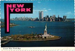 NEW YORK ... LOWER NEW YORK BAY ... LES TOURS JUMELLES ... 1980 - Statue De La Liberté
