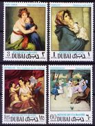 Dubai 1968 MNH 4v, Paintings, Mothers Day, Madonna, Ferruzzi, Zanddmeneghi, Reynolds, - Madonna