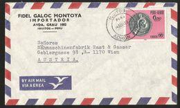 J) 1978 PERU, CURRENCY REPRESENTING MATERNITY, COIN, MOM, UNICEF, AIRMAIL, CIRCULATED COVER, FROM PERU TO AUSTRIA - Peru