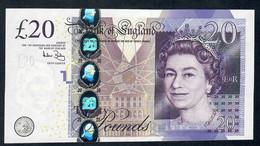 ENGLAND P392a 20 Pounds 2002 Bailey Au/Unc - 1952-… : Elizabeth II