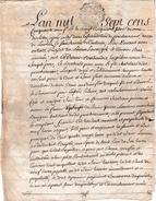 1759 - Généralité D'AUCH - Bail à Constitution De Rentes - POUCHARRAMET (31) Bertrande SEIGNEBON Veuve De Joseph PONS - Historische Documenten