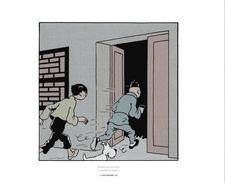 46. HERGE- MOUINSART.  TINTIN  LE LOTUS BLEU - Ex-libris