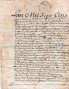 1755 - Généralité D'AUCH - Vente D'une Pièce De Terre Par Bertrand SAUVY Cadet, Laboureur, Métairie Degilet, - Historische Documenten