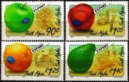 SOUTH AFRICA #874-7     EXPORT FRUITS - APPLES - ORANGE - AVOCATO -  1994   4v - Mint - Unused Stamps