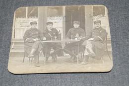 RARE,Stockem,originale,Belle Carte Photo Ancienne,groupe Soldats ,poilus,a La Terrasse,époque Guerre 14-18 - Arlon