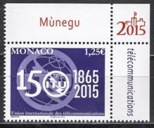 ** MONACO 2015 - Y.T. N° 2979 / 150 ANS DE L'UNION INTERNATIONALE DES TELECOMMUNICATIONS - NEUF ** - Unused Stamps