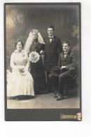 FOTO MATRIMONIO STUDIO AUG. BAER ST. GALLEN FORMATO CM. 16,5X11 - Old (before 1900)