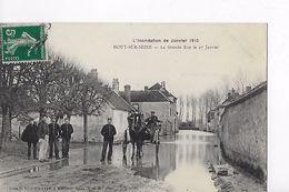 77 / L INONDATION DE JANVIER 1910 / MOUY SUR SEINE / LA GRANDE RUE LE 27 JANVIER / RARE ET TRES BELLE CARTE - Zonder Classificatie