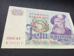 SWEDEN P51a  5 Kronor 1966 Unc... - Sweden