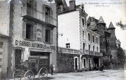 UZERCHE -  LE CHATEAU PONTIER -  L HOTEL MODERNE GARAGE D AUTOMOBILES -  2P2b - Uzerche