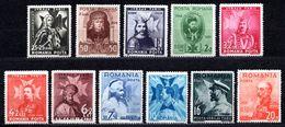 1938 ROMANIA KING CARL II MICHEL: 553-563 MH * - 1918-1948 Ferdinand, Charles II & Michael