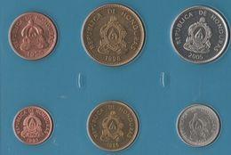 HONDURAS COIN SET 6 MONNAIES: 1 CENTAVO - 50 CENTAVOS 1956 - 2007 - Honduras