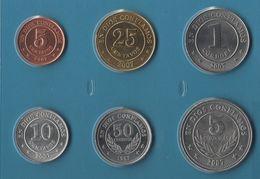 NICARAGUA COIN SET 6 MONNAIES: 5 CENTAVOS - 5 CORDOBAS 1997 - 2007 - Nicaragua