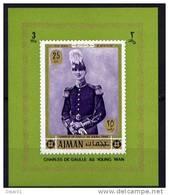 Général De Gaulle - AJMAN Yvert 82 - Michel 655 Bloc Feuillet Neuf Xxx - De Gaulle (General)