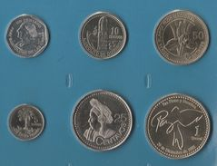 GUATEMALA COIN SET 6 MONNAIES: 1 CENTAVO - 1 QUETZAL 1999 - 2008 - Guatemala