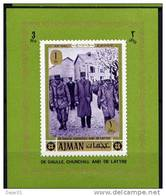 Général De Gaulle - AJMAN Yvert 82 - Michel 658 Bloc Feuillet Neuf Xxx - De Gaulle (General)