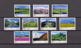 Japan 2015 - Japanese Mountains 6, Used Stamps, Michelnr. 7206-15 - Gebruikt