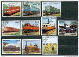 PARAGUAY - Mi.Nr.   3358  -  3367   -     Gestempelt     100 Jahre Elektrische Eisenbahn - Paraguay