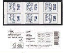 Carnet 6 Timbres Europe Marianne De Ciappa Avec Numéro. - Carnets