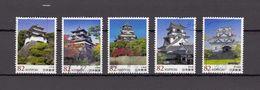 Japan 2015 - Japanese Castles 5, Used Stamps, Michelnr. 7338-42 - Gebruikt