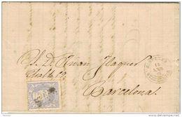 24535. Carta Entera SIGUENZA (Guadalajara) 1872. Alegoria - Cartas