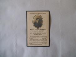 MADAME AUGUSTIN DU BREUIL NEE CLAIRE-JULIE DUFAITELLE PIEUSEMENT DECEDEE LE 8 DECEMBRE 1930 A L'ÂGE DE 89 ANS - Andachtsbilder