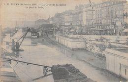 ROUEN - Crue De La Seine - 30 Janvier 1910 - Le Quai De Paris - Rouen