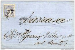24536. Carta Entera SAN JUAN De PALAMOS (Gerona) 1870 A Tarrasa. Fechador Mudo - Cartas