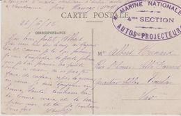 54 NANCY MARINE NATIONALE 4eme SECTION AUTOS PROJECTEURS - Marcofilie (Brieven)