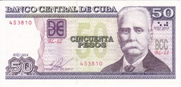 BILLETE DE CUBA DE 50 PESOS DEL AÑO 2014 DE CALIXTO GARCIA EN CALIDAD EBC (XF) (BANKNOTE) - Cuba