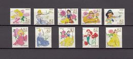 Japan 2015 - Greetings Disney Princess, 82 Yen, Used Stamps, Michelnr. 7610-19 - Gebruikt