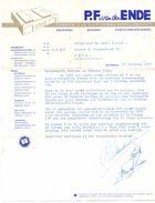 Factuur Facture - Brief Nota Drukkerij P.F. Van Den Ende - Rotterdam 1959 - Netherlands