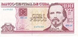 BILLETE DE CUBA DE 100 PESOS DEL AÑO 2014 DE CARLOS MANUEL DE CESPEDES EN CALIDAD EBC (XF) (BANKNOTE) - Cuba