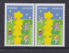 Europa Cept 2000 Ukraine 1v (pair) ** Mnh (36985M) - Europa-CEPT