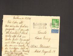 Bizone Bauten 20 Pfg.m.Notopfer Geschnitten A.Karte 1948 A.Düsseldorf M.Serienstempel Nordwestdeutsche Klassenlotterie - Bizone