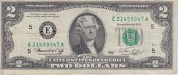 BILLETE DE ESTADOS UNIDOS DE 2 DÓLARES DEL AÑO 1976 SERIE E (BANK NOTE) - Billetes De La Reserva Federal (1928-...)