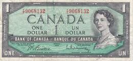BILLETE DE CANADA DE 1 DOLLAR DEL AÑO 1954  (BANKNOTE) - Canada