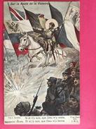 Militaria, Patriotique, Sur La Route De La Victoire, Guerre 1914-15, Association Des Dames Françaises, Croix Rouge - Patriotiques