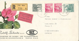 Austria Registered Cover Sent Express To Czechoslovakia Wien 28-3-1969 - 1945-.... 2ème République