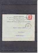 """Semeuse PERFOREE S.G. 10c Rouge Sur Envel + Lettre 4 1 1910  Avec  """" Ambulant AVIGNON A CETTE """"  Pour CEILHES Herault - Perforés"""
