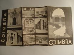COIMBRA - PORTUGAL, 1948. TRI-FOLD PAMPHLET W/ B/W PHOTOS. - Dépliants Touristiques