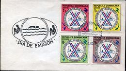 27466 Rep. Dominicana, Fdc 1977  Swimmimng   Schwimmen Natation Juniors, - Swimming
