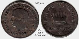 I-1808 V,  3 Centesimi, Vendedig - Lombardo-Veneto