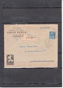 """Lettre + Envel RCDEE  De STRASBOURG Le 20 3 1931 Entete Pub """" BRASSERIE De LUTTERBACH """" Expo Coloniale  1F50 Bleu - Marcophilie (Lettres)"""