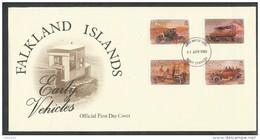 Falklandinseln  Mi.Nr.  476 - 479  - Alte Auto      Ersttagsbrief - Falklandinseln