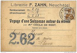 I - 79 -  Carte Avec Superbe Cachet à Date De Neuchâtel Remboursement 1910 - Suisse
