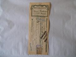 POITIERS MARCEL BUTHAUD MANUFACTURE DE CHEMISES 23 RUE DU PONT NEUF TRAITE DU 25 AVRIL 1924 - Textile & Vestimentaire