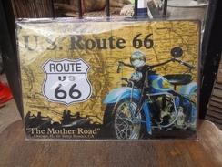 """Paque Publicitaire """"route 66"""" - Advertising (Porcelain) Signs"""