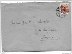 "I - 87 - Enveloppe Avec Cachet à Date ""Ambulant"" 1943 - Svizzera"