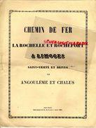 87-LIMOGES-ROCHEFORT-ANGOULEME-RUELLE-LA ROCHEFOUCAULT-ROCHECHOUART-SAINTES-CHALUS-CHEMIN DE FER GARE-LA ROCHELLE - Historische Documenten